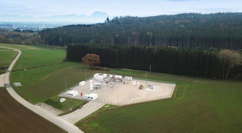 Aerial view of a facility for underground sun storage / © Karin Lohberger (RAG)